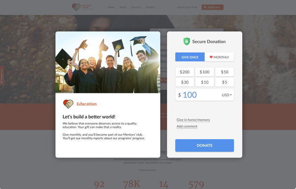 Desktop Donor Experience