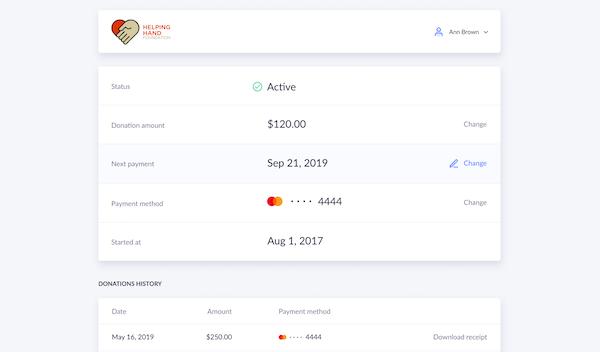 Donor Self-Service Portal
