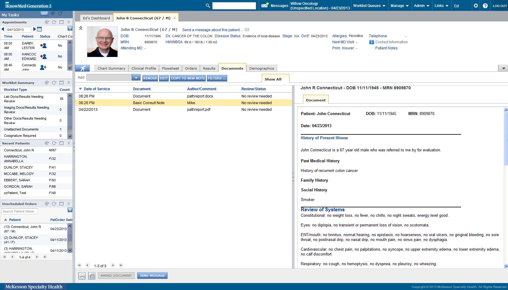 Personalized documentation options