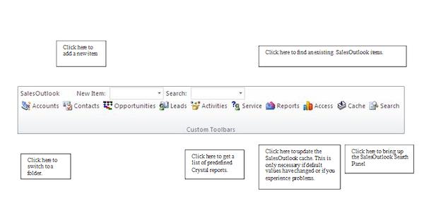 SalesOutlook CRM - SalesOutlook Toolbar