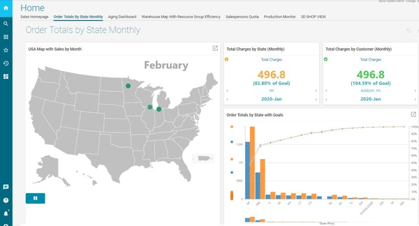 Epicor Sales Dashboard