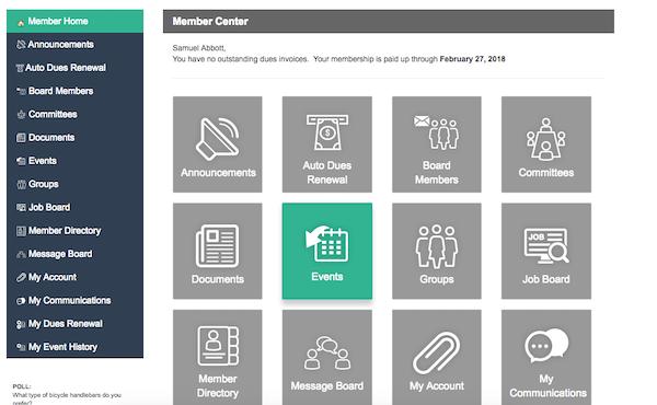 Member homepage
