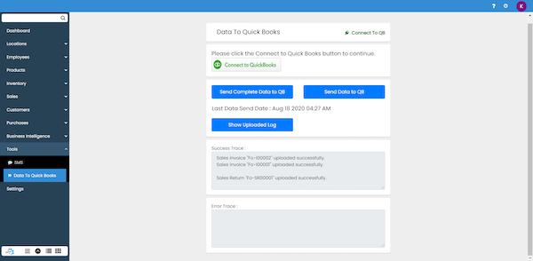Send Data to QuickBooks