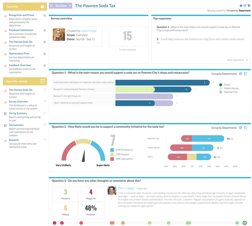 Dashboards and insights