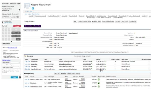 CloudCall - Salesforce integration