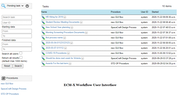 Workflow user interface