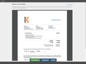 E-sign documents