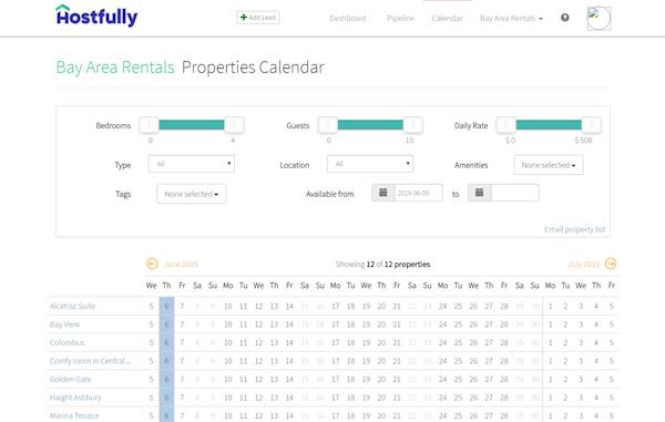 Hostfully Calendar