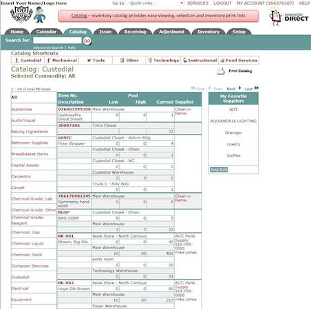 MaintenanceEssentials - Inventory catalog