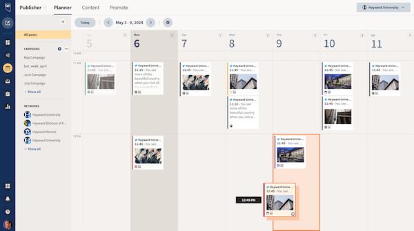 Hootsuite Content Scheduling