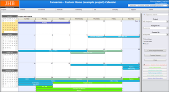 Calendar View With Multiple Projects Shown