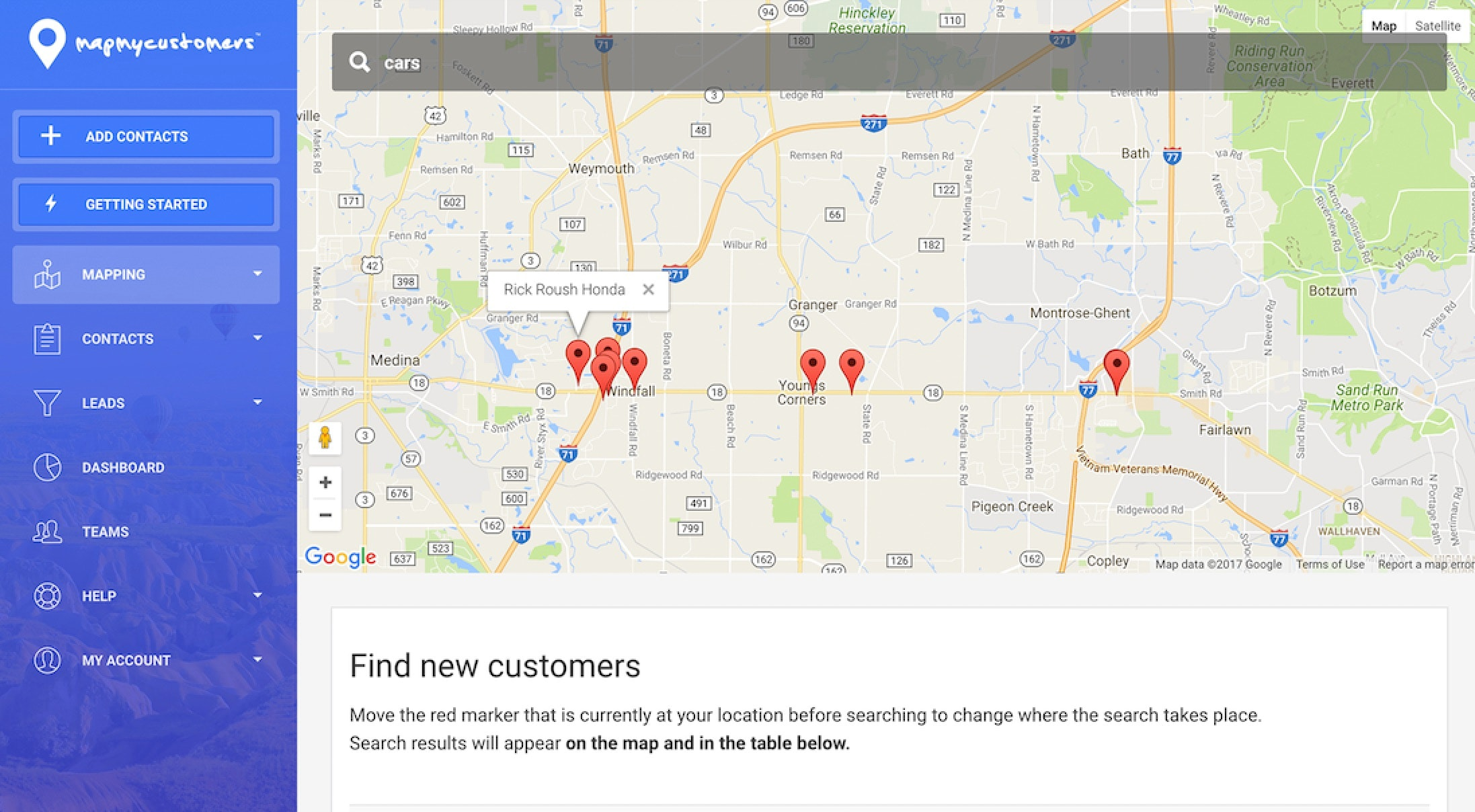 Map My Customers - Prospecting