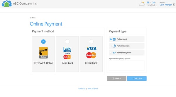 Tenant online payments