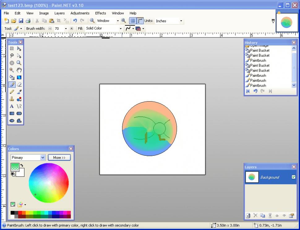 Retina drawing