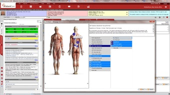 Anatomical images with hotspots