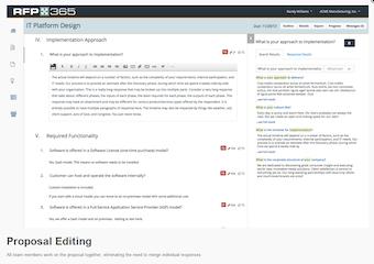 Proposal editing