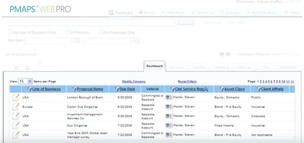 Proposal database