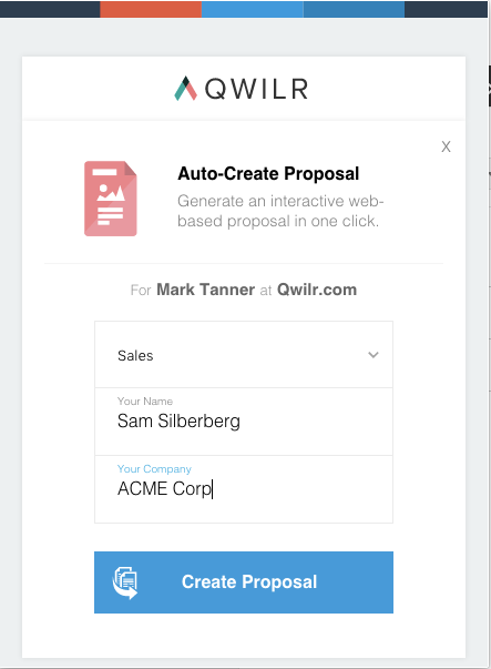 Automated proposals