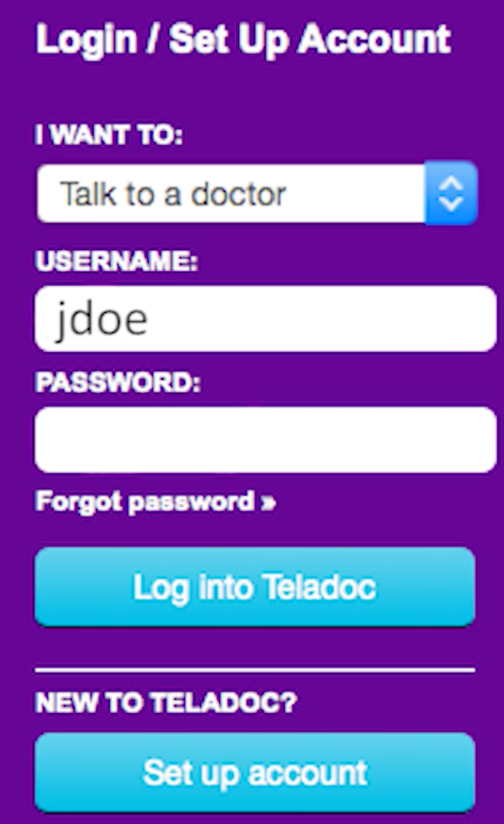 Patient login