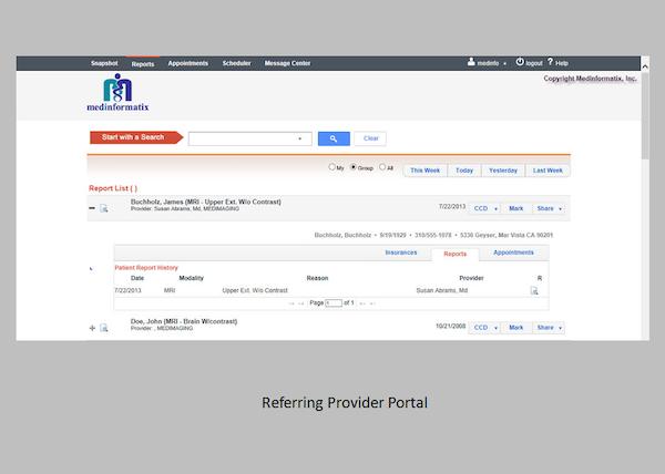 MedInformatix RIS - Referring provider portal