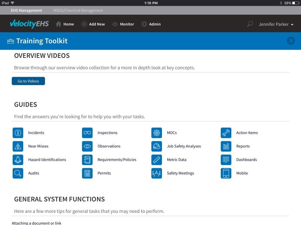 Training toolkit - mobile tablet