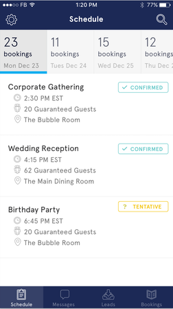 Gather mobile screenshot
