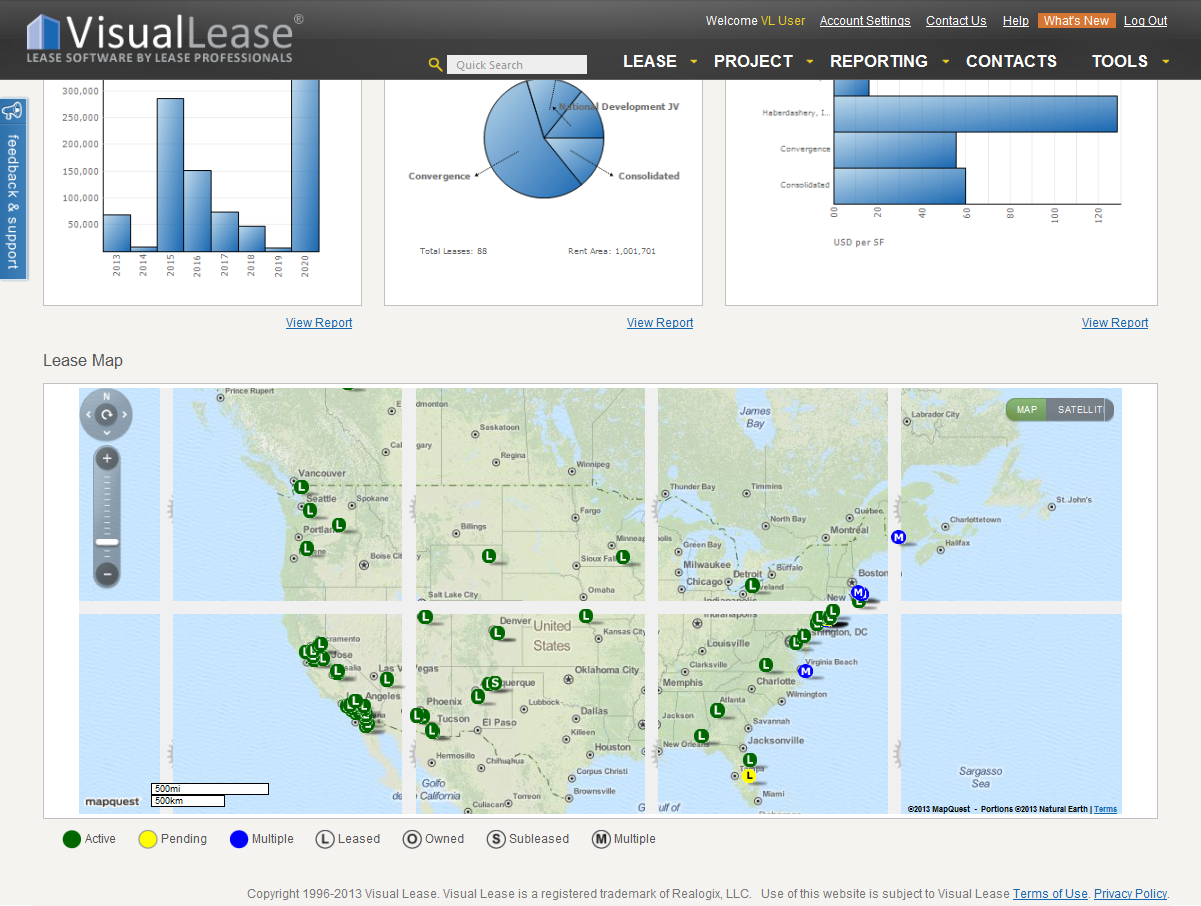 Dashboard mapping