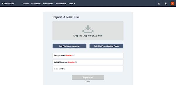 Import files