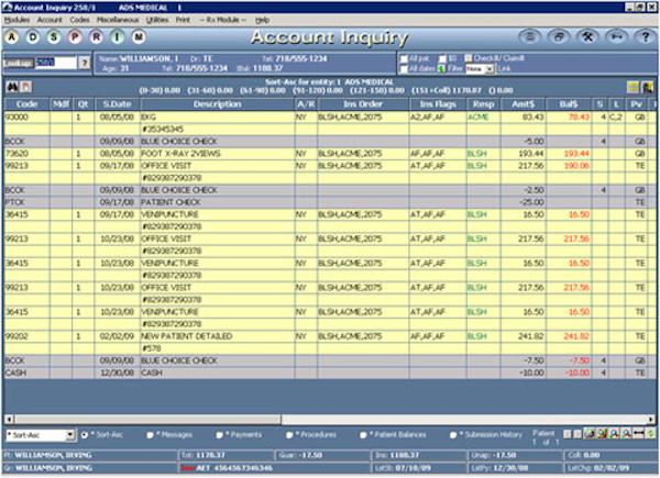 MedicsRIS financial ledger