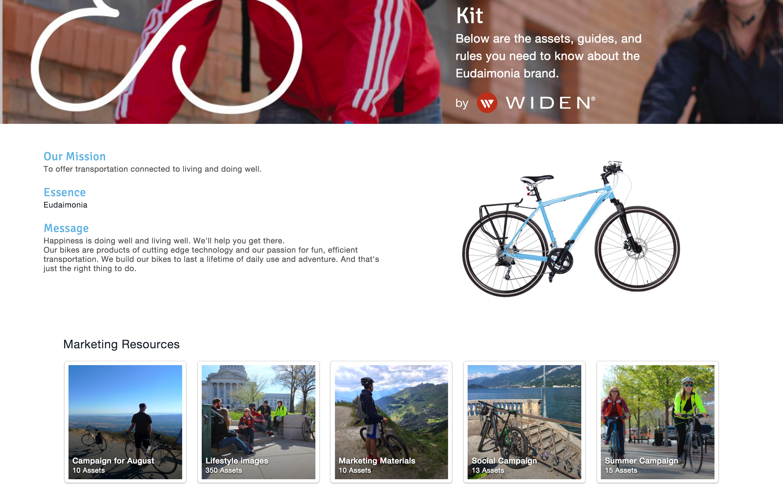 Widen Collective brand portals