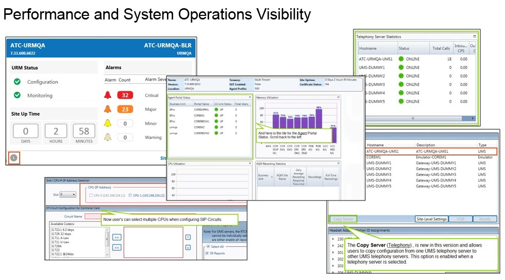 Performance and system operations visibility
