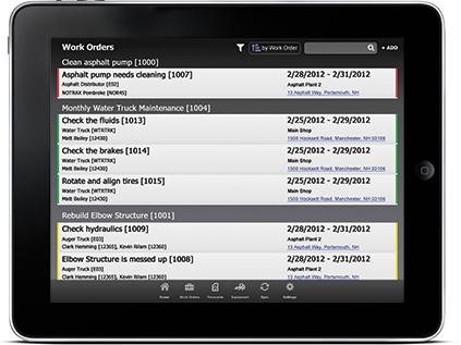 Tablet application for mechanics