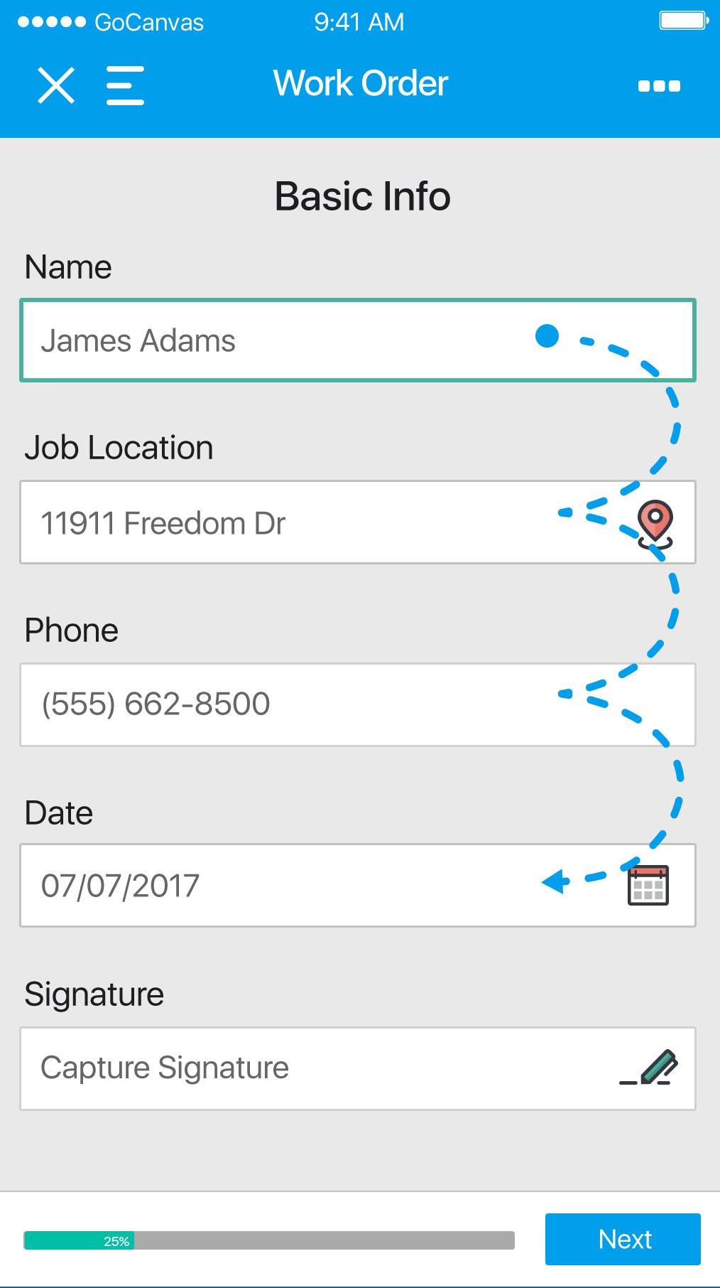 Work order basic information