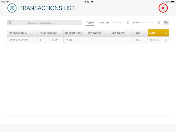 Transaction List