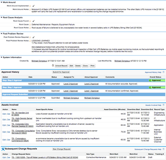 Incident reporting and approvals