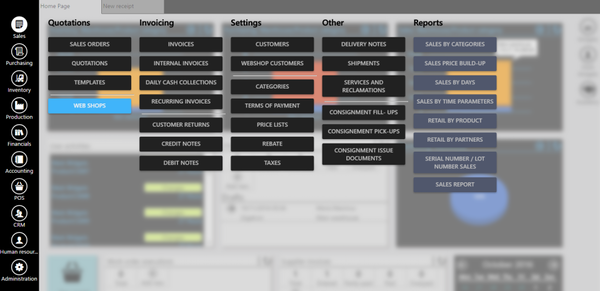 ERPAG dashboard screenshot