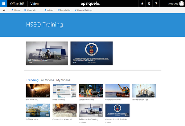 Training video library