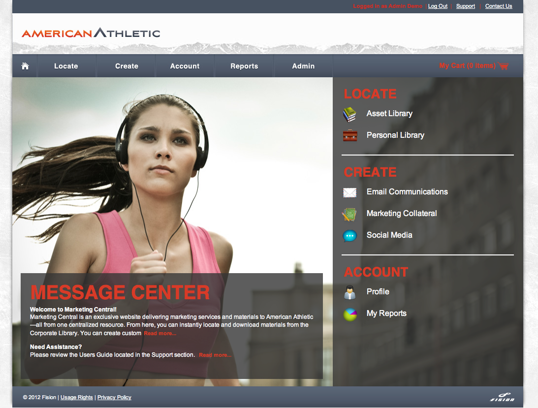 Fision - User Friendly Interface and Homepage