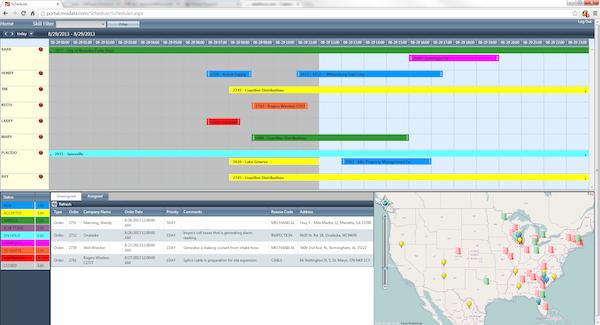 Service Pro Visual Scheduler