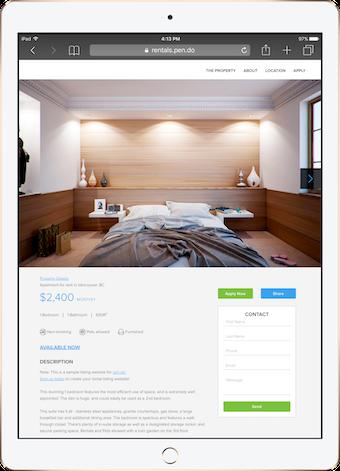 Rental listing website