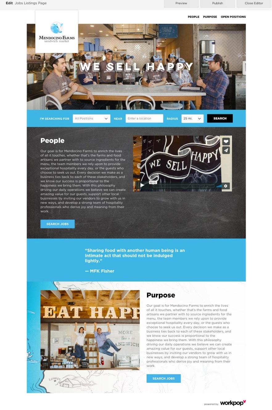 Create careers site