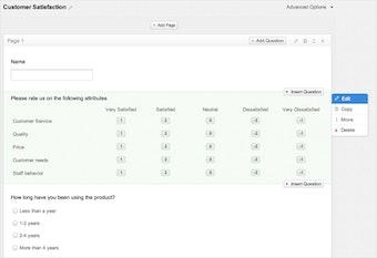 Survey Form format