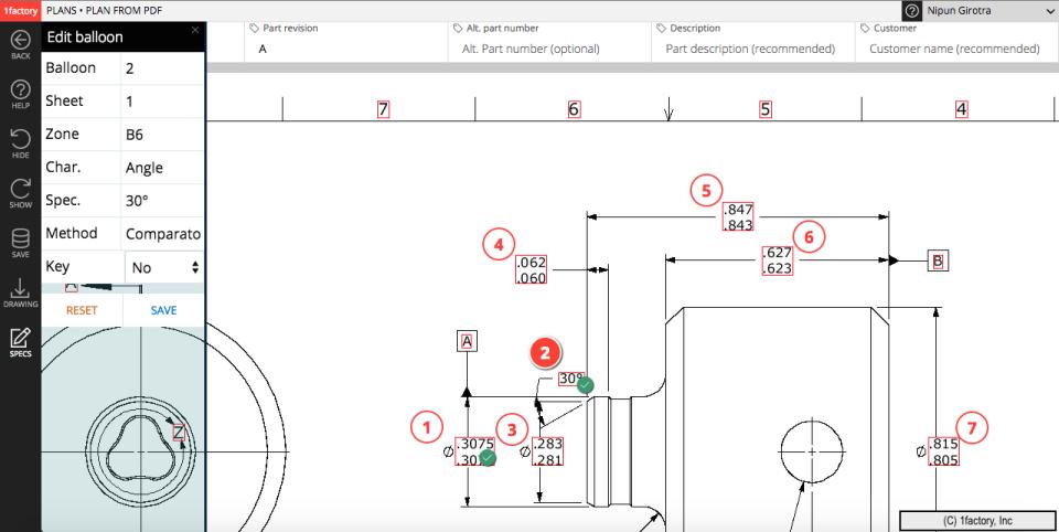 PDF drawing ballooning