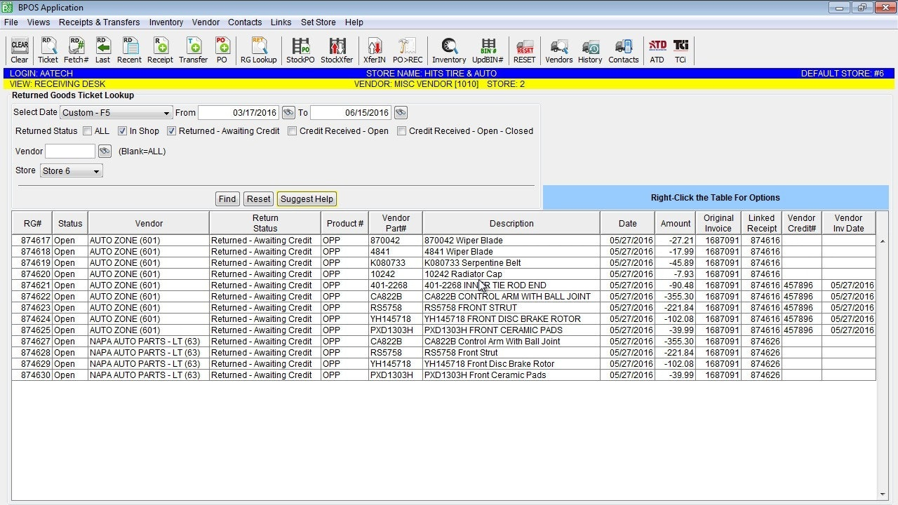 Excel like interface