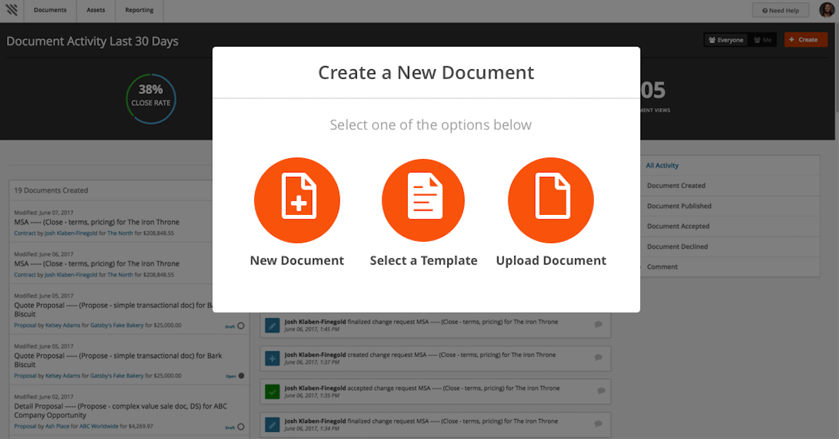 Automate document generation