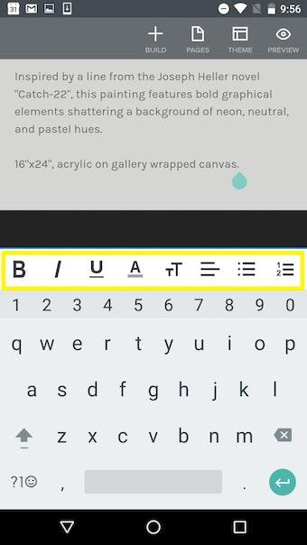 Adding text via mobile