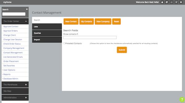 Customer management dashboard