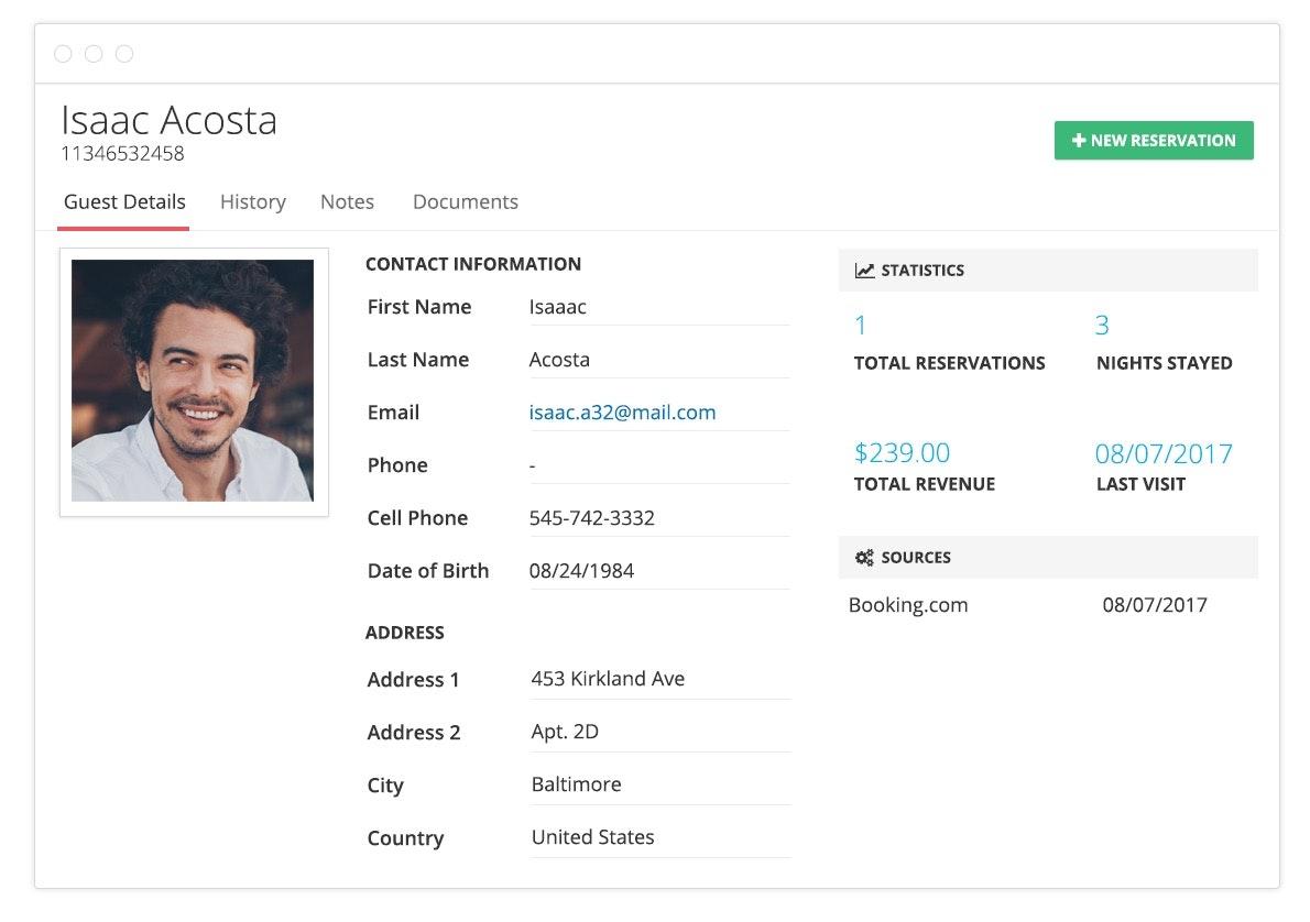 Guest profile
