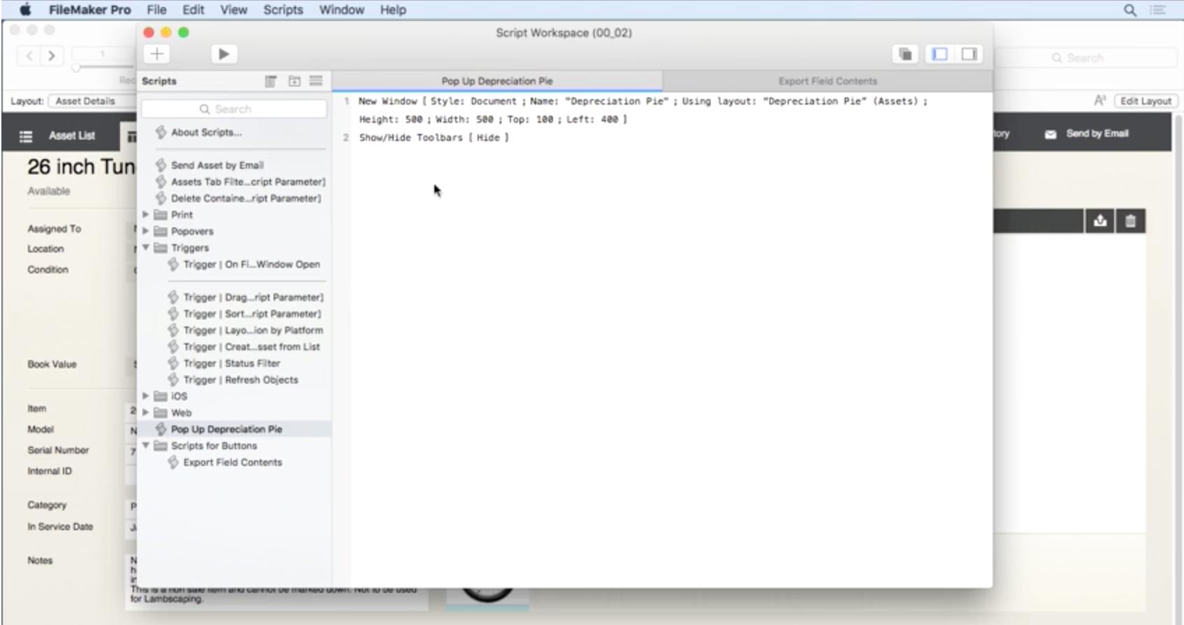 Script workspace