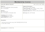 Membership invoicing